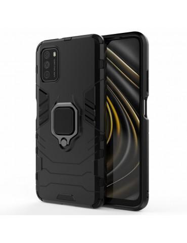 Θήκη Πλάτης Armor με Ring για Το Xiaomi Poco M3- Black