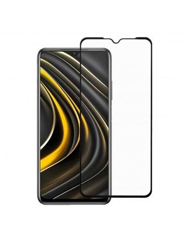 2.5D Full Screen Covering Tempered Glass Screen Protector για το Xiaomi Poco M3 - Black