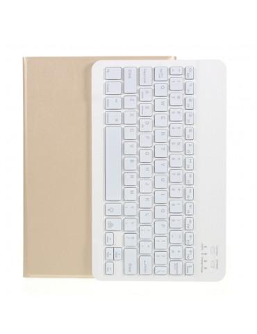 Δερμάτινη θήκη - βιβλίο με ασύρματο πληκτρολόγιο Για Samsung Galaxy Tab A7 10.4 (2020) T500 T505 -Gold
