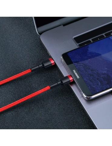 Καλώδιο Γρήγορης Φόρτισης Baseus Cafule Cable CATKLF-G09 Type-C 3A PD 2.0 Flash Charging - Type-C to Type-C 1M - Red