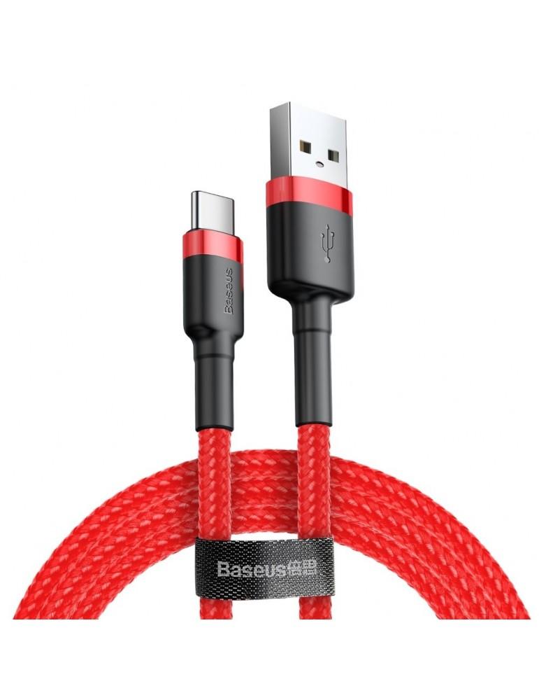 Καλώδιο Baseus Cafule Braided USB 2.0 Cable USB-C male - USB-A male Κόκκινο 3m (CATKLF-U09)