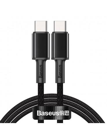 Καλώδιο Baseus Cafule Braided USB 2.0 Cable USB-C male - USB-C male Μαύρο 2m (CATGD-A01)