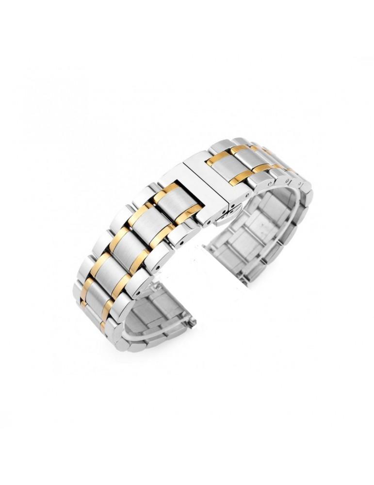 Mεταλλικό Stainless steel λουράκι με διπλό butterfly buckle κλείσιμο για το Galaxy Watch 46mm/GEAR S3 CLASSIC / FRONTIER / Watch 3 (45mm) Ασημί/Χρυσό