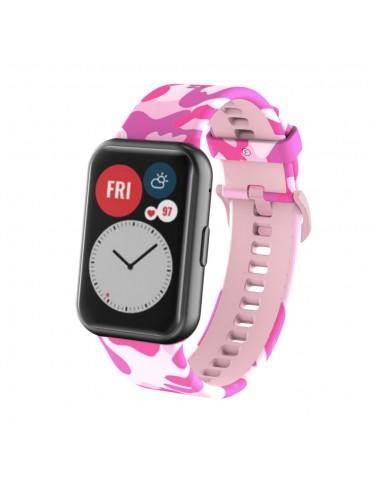 Λουράκι σιλικόνης για το Huawei Watch Fit -Pink/Camo