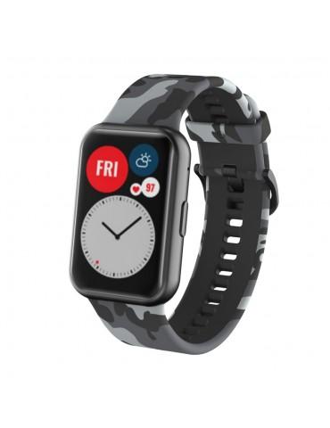 Λουράκι σιλικόνης για το Huawei Watch Fit -Grey/Camo