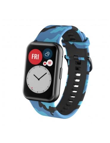 Λουράκι σιλικόνης για το Huawei Watch Fit -Blue/Camo