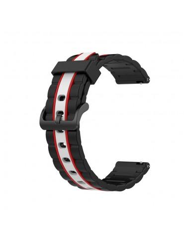 Λουράκι σιλικόνης wave για το Huawei Watch GT/GT 2 (46mm)/ GT 2e /GT Active/Honor Magic/Watch 2 Classic- Black/White/Red
