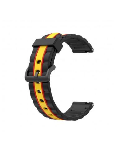 Λουράκι σιλικόνης wave για το Huawei Watch GT/GT 2 (46mm)/ GT 2e /GT Active/Honor Magic/Watch 2 Classic-  Black/Yellow/Red