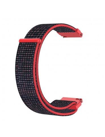 Yφασμάτινο λουράκι με αυτοκόλλητο κλείσιμο για το Amazfit GTS - Black/ Red