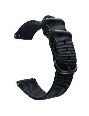 Υφασμάτινο λουράκι με τρύπες για το Huawei Watch GT/GT 2 (46mm)/ GT 2e /GT Active/Honor Magic/Watch 2 Classic - Black