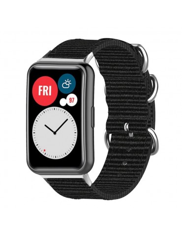 Υφασμάτινο λουράκι για το Huawei Watch Fit - Black
