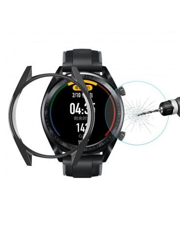 Προστατευτική θήκη σιλικόνης με Tempered Glass για το GT Classic / GT Active / GT Sport 46mm - Black
