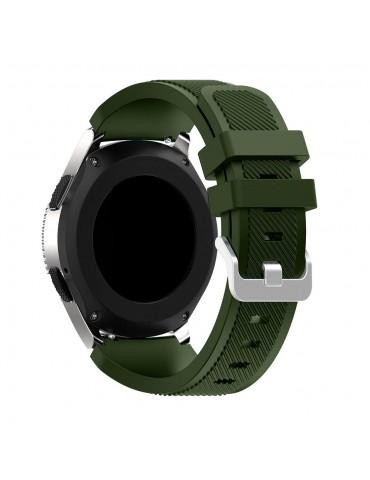 Twill Texture Λουράκι σιλικόνης για το Huawei GT/GT 2 (46mm)/ GT 2e /GT Active/Honor Magic/Watch 2 Classic - Army Green