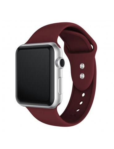Λουράκι Σιλικόνης μπορντό (Apple Watch 42/44mm) OEM