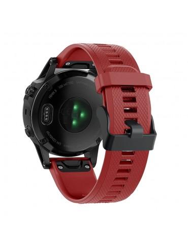 Λουράκι σιλικόνης κόκκινο για Garmin Fenix 5/5 Plus/6/6 Pro/Forerunner 935/945/Quatix 5/Instinct OEM