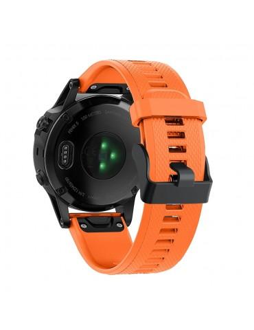 Λουράκι σιλικόνης πορτοκαλί για Garmin Fenix 5/5 Plus/6/6 Pro/Forerunner 935/945/Quatix 5/Instinct OEM