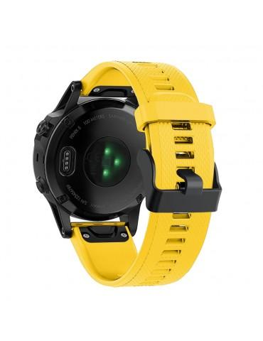 Λουράκι σιλικόνης κίτρινο για Garmin Fenix 5/5 Plus/6/6 Pro/Forerunner 935/945/Quatix 5/Instinct OEM