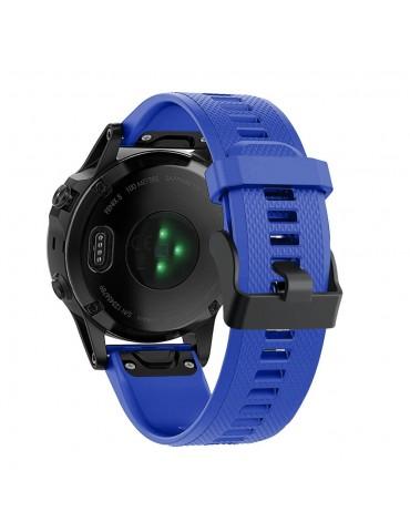 Λουράκι σιλικόνης μπλε για Garmin Fenix 5/5 Plus/6/6 Pro/Forerunner 935/945/Quatix 5/Instinct OEM