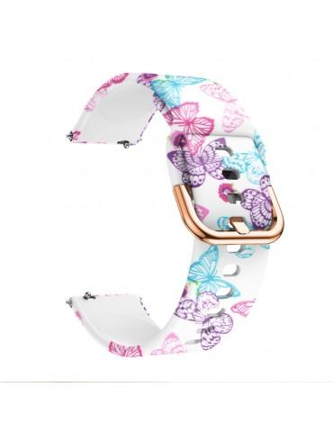 Λουράκι Σιλικόνης για το Huawei Watch GT/GT 2 (46mm)/ GT 2e /GT Active/Honor Magic/Watch 2 Classic-Vivid  Butterfly