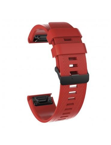 Ανταλλακτικό Λουράκι Σιλικόνης για Garmin Fenix 3/5x/3HR/5X Plus/6x/6x Pro -  Red
