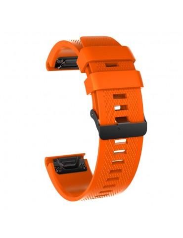 Ανταλλακτικό Λουράκι Σιλικόνης για Garmin Fenix 3/5x/3HR/5X Plus/6x/6x Pro - Orange