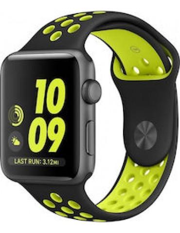 Tech-Protect Apple Watch Softband Black/Lime (42/44mm)