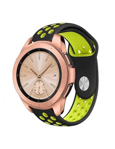 Λουράκι σιλικόνης two tone για το Samsung Galaxy Watch 42mm πράσινο OEM