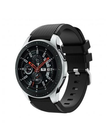 Ανταλλακτικό λουράκι Quickfit Samsung Galaxy Watch 46mm/GEAR S3 CLASSIC / FRONTIER / Watch 3 (45mm) Black OEM
