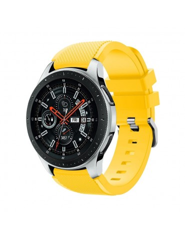 Tech-Protect Smoothband for Samsung Galaxy Watch 46mm/GEAR S3 CLASSIC / FRONTIER / Watch 3 (45mm) yellow