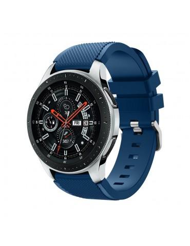 Twill Texture Λουράκι σιλικόνης για το Huawei GT/GT 2 (46mm)/ GT 2e /GT Active/Honor Magic/Watch 2 Classic Midnight Blue OEM