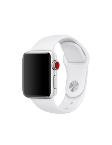 Λουράκι Σιλικόνης Λευκό (Apple Watch 42/44mm) OEM