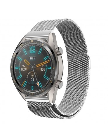 Tech-Protect Milanese Ασημί για Huawei GT/GT 2 (46mm)/ GT 2e /GT Active/Honor Magic/Watch 2 Classic