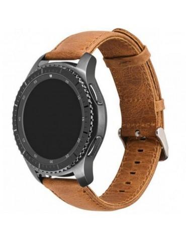 Λουράκι Leather Texture Light Brown Huawei Watch G/GT 2 (46mm)/GT Active/Honor Magic/Watch 2T OEM