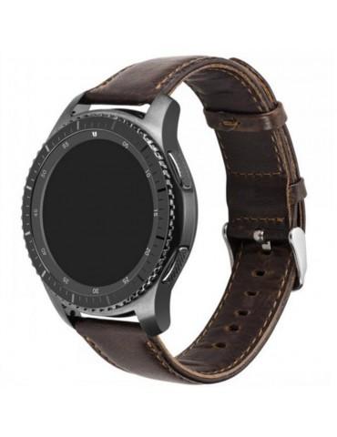 Λουράκι Leather Texture Dark Brown Huawei Watch GT /GT 2 (46mm)/GT Active/Honor Magic/Watch 2OEM