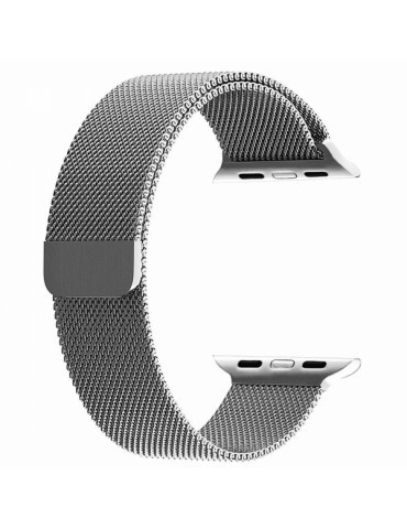 SENSO REPLACEMENT STEEL MAGNETIC STRAP FOR APPLE WATCH 42mm / 44mm silver