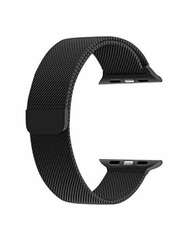 SENSO REPLACEMENT STEEL MAGNETIC STRAP FOR APPLE WATCH 42mm / 44mm black