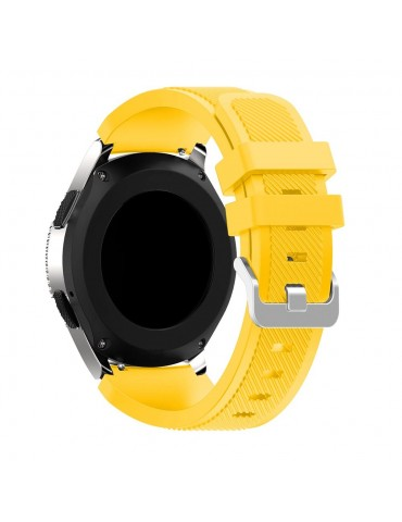 Λουράκι σιλικόνης Twill Texture για το Huawei GT/GT 2 (46mm)/ GT 2e /GT Active/Honor Magic/Watch 2 Classic κίτρινο OEM