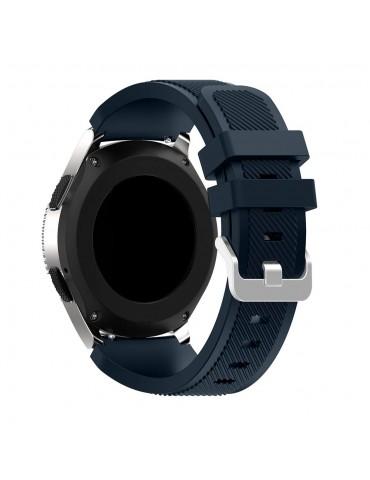 Λουράκι σιλικόνης Twill Texture για το Huawei GT/GT 2 (46mm)/ GT 2e /GT Active/Honor Magic/Watch 2 Classic  Dark Blue OEM