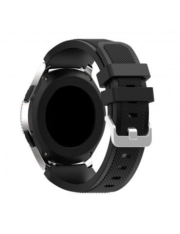 Λουράκι σιλικόνης Twill Texture για το Huawei GT/GT 2 (46mm)/ GT 2e /GT Active/Honor Magic/Watch 2 Classic  μαύρο OEM