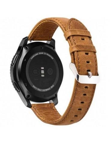 Λουράκι Leather Texture Light Brown για  Amazfit GTR 47mm OEM