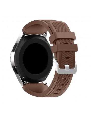 Twill Texture Λουράκι σιλικόνης για το Huawei GT/GT 2 (46mm)/ GT 2e /GT Active/Honor Magic/Watch 2 Classic  - Brown