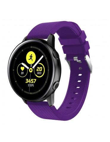 Twill Texture Λουράκι σιλικόνης για το Samsung Galaxy Watch 42mm - Purple