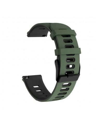 Dual- Color λουράκι σιλικόνης για το Huawei Watch GT/GT 2 (46mm)/ GT 2e /GT Active/Honor Magic/Watch 2 Classic- Army Green/ Black