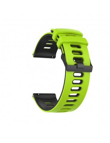 Dual- Color λουράκι σιλικόνης για το Huawei Watch GT/GT 2 (46mm)/ GT 2e /GT Active/Honor Magic/Watch 2 Classic- Lime/ Black
