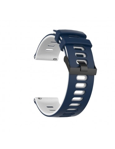 Dual- Color λουράκι σιλικόνης για το Huawei Watch GT/GT 2 (46mm)/ GT 2e /GT Active/Honor Magic/Watch 2 Classic- Blue/White