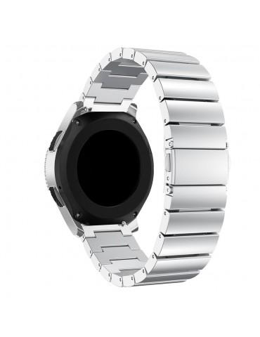 Λουράκι stainless steel bracelet με butterfly buckle για το Huawei Watch GT/GT 2 (46mm)/ GT 2e /GT Active/Honor Magic/Watch 2 Classic - Silver