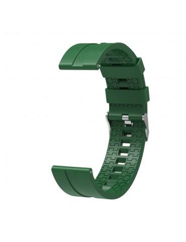 Λουράκι σιλικόνης  hexagon για το Huawei Watch GT/GT 2 (46mm)/ GT 2e /GT Active/Honor Magic/Watch 2 Classic- Army Green