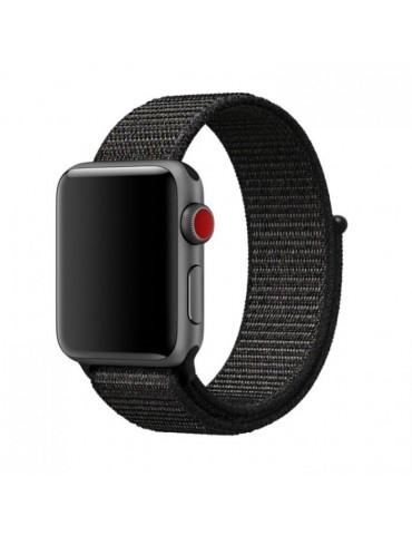 Nylon Mutural λουράκι μαύρο (Apple Watch 42/44mm)