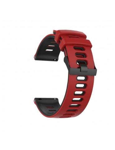 Dual- Color λουράκι σιλικόνης για το Amazfit GTR 47mm- Red/ Black