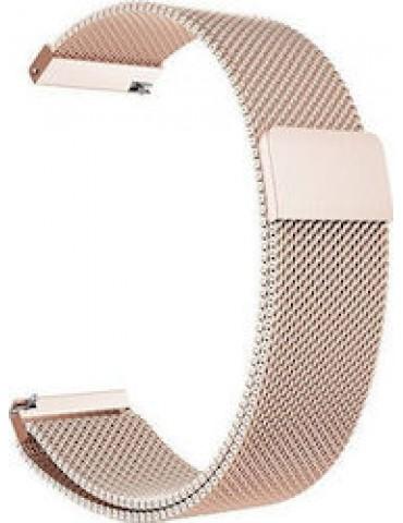 Stainless Steel Milanese λουράκι με μαγνητικό κλείσιμο για το Garmin Vivomove HR/ Vivomove OEM - Rose Gold OEM